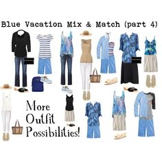 Blue Vacation part 4 by susanmcu on Polyvore featuring Wallis, J.Crew, Velvet, Forever New, American Vintage, Junk Food Clothing, James Perse, Donna Karan, Steffen Schraut and Jil Sander