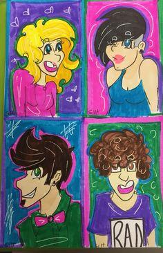 Smiley ocs! Sweets, Lil, Merkia and Skyras!- (Sweets and Skyras belong to @JadeSeer )-@SlothsInHats