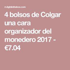 4 bolsos de Colgar una cara organizador del monedero 2017 - €7.04