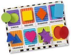 Melissa & Doug Chunky Puzzle - shape puzzle - learning puzzle #affiliate