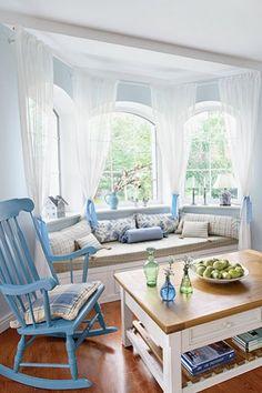 Jurnal de design interior  Amenajare în albastru pastel