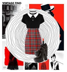 """""""Tame Tartan"""" by elmoknowswhereyoulive ❤ liked on Polyvore featuring Luxo, Moschino, NARS Cosmetics, Charlotte Russe, Trend Cool, red, blackandwhite, choker and tartan"""