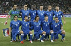 Players of team Italy pose for a team photo before the start of their Euro 2012 quarter-final soccer match against England at the Olympic stadium in Kiev. TONY GENTILE/REUTERS