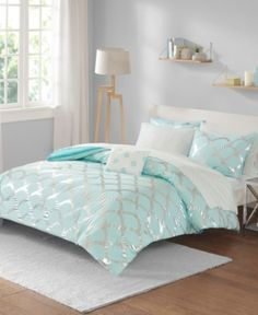 Lorna Twin 6 Piece Comforter And Sheet Set In 2020 Aqua Bedding Girl Bedroom Decor Girl Beds