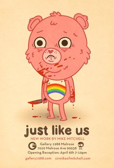 """Just like us"" art show by Mike Mitchell"