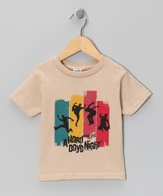 Take a look at this Sand 'A Hard Day's Night' Silhouettes Tee - Toddler & Kids by American Classics on #zulily today!