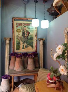 Antique Asturian poster La Quinta de San Antonio, Puebla, Mexico