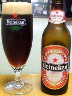 Heineken Dark  Dark not like a Heineken for sure, but I mean that in a good way. The taste is that of a roasted malt. Not to sweet and goes down nice and smooth. 5% 8/10