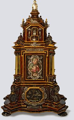 ormolu belle epoque | Precious Time: A Cabinet Clock from Augsburg, 1700-1725