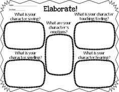 Get your writer's to stretch out their character's stories by using this awesome graphic organizer! Use sensory details and feelings to elaborate and create better narrative writing! Aligned with Common Core and based on Empowering Writers Grade 5 Writing Strategies, Writing Lessons, Writing Resources, Teaching Writing, Writing Activities, Writing Ideas, Sensory Language, Teaching Language Arts, Empowering Writers