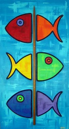 "Painting : ""Fish-Kabob (with Koa skewer)"" (Original art by Shawn Ardoin) Fabric Painting, Painting & Drawing, Acrylic Painting Lessons, Gouache Painting, Spray Painting, Art Abstrait, Fish Art, Fish Fish, Whimsical Art"