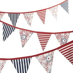 Patriotic Flag Banner | Crate and Barrel #setthetable