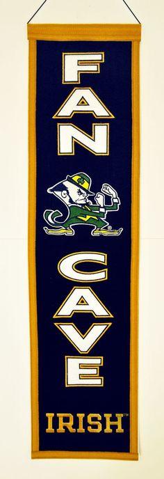 Notre Dame Fighting Irish Banner Wool Man Cave