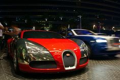 Dubai — Red & Chrome Bugatti Veyron in Dubai. ♥ REPIN, LIKE, COMMENT & SHARE! ♥