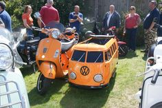 John Barnetts Vespa GTS with VW campervan sidecar