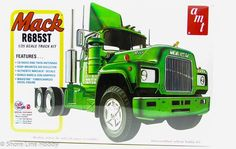 Kit# 1039               The Kats at AMT have listened to what truck modelers want to see again, and here's a top selection – the Mack R685ST tractor! This super