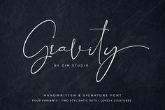 Gravity - Handwritten - 30% OFF by Din Studio on @creativemarket