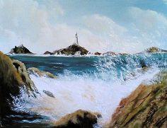 La Corbiere Lighthouse St Brelade Jersey by Juan  Cruz