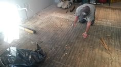 Stripped down 4 layers of old flooring to get to this.