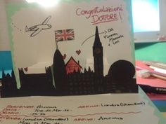 London's card homemade for graduate.
