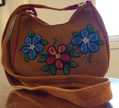 Beaded stout fabric purse by Victoria J Dolphus
