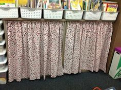 Curtains on tension rods to hide clutter or areas you want kids to stay out of. Confessions of a Teaching Junkie: Organization Ideas for Back-to-School Classroom Setting, Classroom Setup, Classroom Design, Preschool Classroom, Desk Organization, Classroom Organization, Teacher Hacks, Teacher Stuff, Classroom Curtains