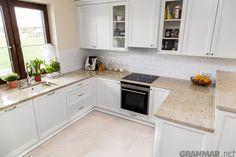 ...i cała #kuchnia z blatem z #granite #Ivory #Cream