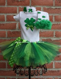 St Patrick's Day Tutu Outfit by PrincessDreamsTutus on Etsy, $55.00