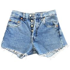 Blue Cotton Shorts LEVI'S ❤ liked on Polyvore featuring shorts, bottoms, pants, levi shorts and blue cotton shorts