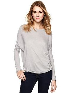 again, I'm sold on the idea of super soft and nice fabric. And did I mention I love gray? But you knew that already.    Gap Pure cocoon T | Gap