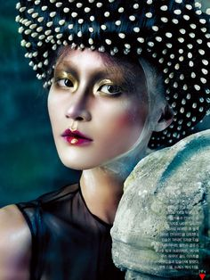 Beauty Editorial: Gothic Elegance by Hyea W. Kang for Vogue Korea October 2012