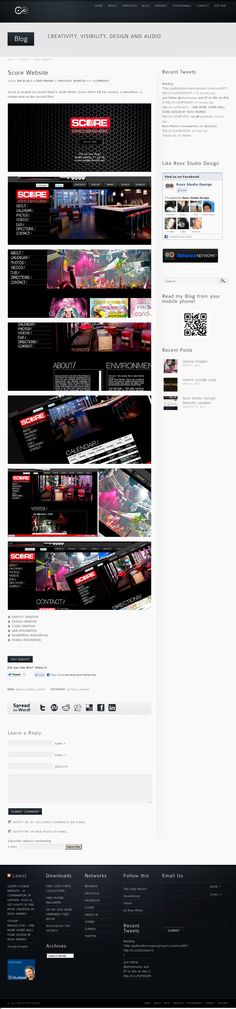 Website 'http://www.roxxstudiodesign.com/    Score