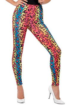 Multi-coloured Leopard Print Leggings