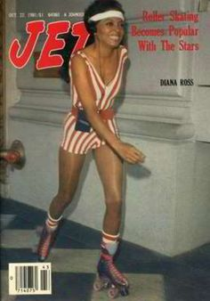 Roller Skating Diana Ross on the Cover of Jet Magazine in 1981