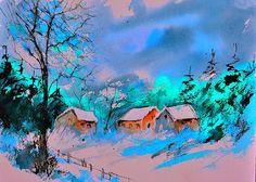 watercolor 86744 by artist Pol Ledent