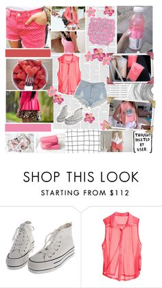 """""""- when you look up at the sky, we'll be burning up like neon lights"""" by ashleyfashions ❤ liked on Polyvore featuring Prada, Sharpie, H&M, éS and Shay"""