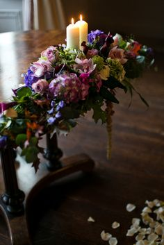 Flower Design Events: Beautiful Intimate Wedding Ceremony & Reception at Browsholme Hall