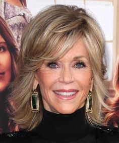 Jane Fonda layered haircut