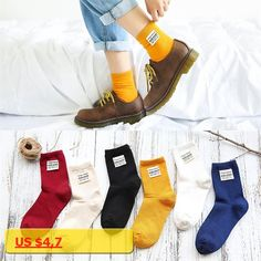 PEONFLY 2017 Autumn Winter Product Color Personality Cloth Standard Korea Cotton School cute funny Socks women sock hosiery
