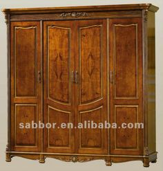 Antique wardrobe for coats