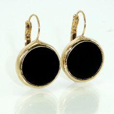 Black Onyx Drop Earrings Gemstone Earrings Dangle by inbalmishan