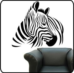 Large ZEBRA Removable Vinyl Wall Decals Stickers Art Graphics Part 56