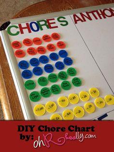 DIY Chore Chart  – Oh Rheally?