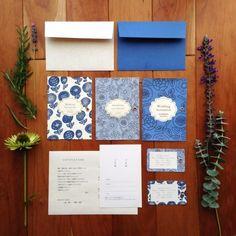 青の招待状(flora) 10部set -作り手: eriys craft