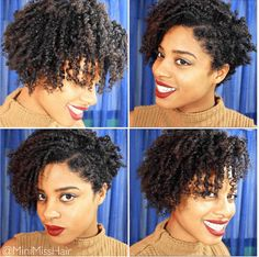 Foxy Finger Coil Out on Natural Hair for great defined curls Natural Hair Tutorials, Natural Hair Tips, Natural Hair Styles, Short Curly Hair, Short Hair Cuts, Curly Hair Styles, Afro, Hair In The Wind, Finger Coils