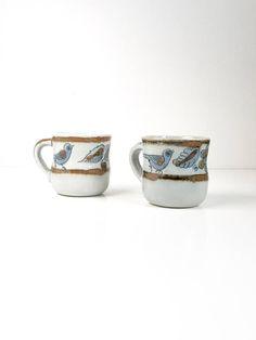 Vintage Signed Ken Edwards El Palomar Cups Set of 2