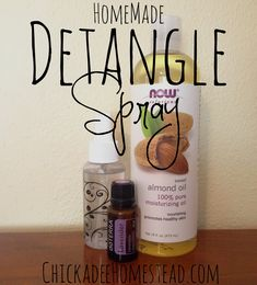 Homemade Detangle Spray