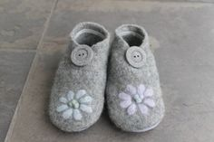 Felted Wool Recycled Baby Shoe/Slipper