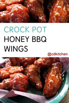 Honey BBQ Wings - Recipe is made with Tabasco sauce, black pepper, chicken wings, honey, ketchup, vinegar, seasoned salt | CDKitchen.com