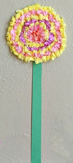 Flower Crafts for Kids: Textured Tissue Paper Flowers for Easter and Spring~ Buggy and Buddy